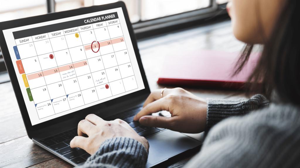 an online calendar